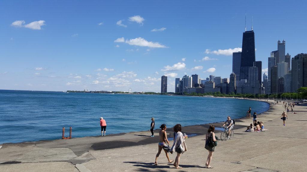 Lake Michigan bij Chicago - er zijn slechtere plekken om te wonen!